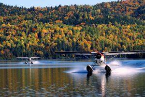 avion-lac-foret
